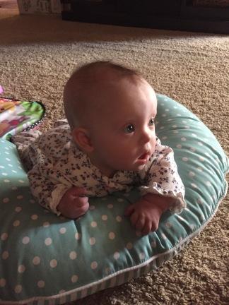 Tummy time on her Boppy