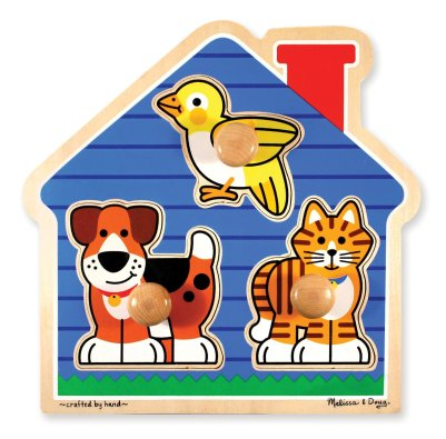 first shapes jumbo knob wooden peg puzzle by melissa and doug