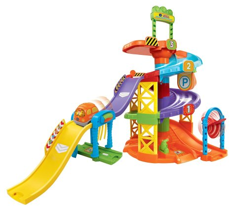 VTech Go Go Smart Wheels Spinning Spiral Tower Playset Frustration Free Packaging